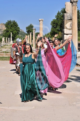 Dancing girls at Ephesus