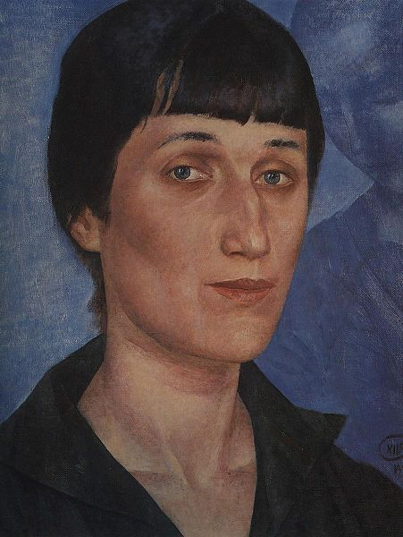 451px-Kuzma_Petrov-Vodkin._Portrait_of_Anna_Akhmatova._1922