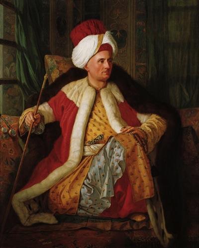 Osmanlı kıyafetinde Fransız sefiri