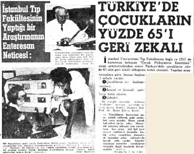 İstanbul Üniversitesi Tıp Fakültesi'nin ulaştığı enteresan netice