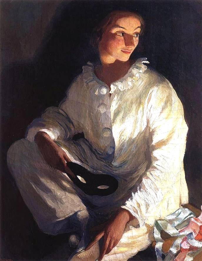 1911_Piero kostümüyle otoportre