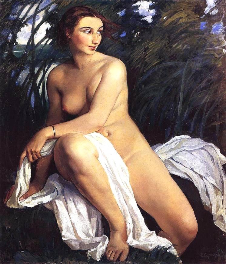 1911_yıkanan kadın