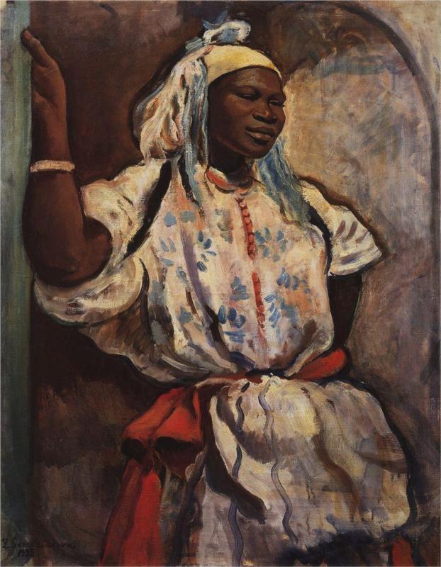1928_beyaz giymiş faslı kadın