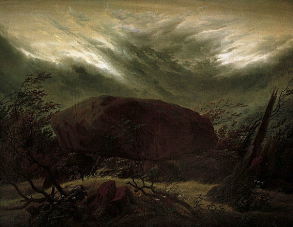Caspar David Friedrich - Dolmen in Autumn (1820)