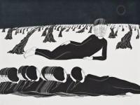 Daehyun Kim aka Moonassi 김대현 (Korean, b. 1980, Seoul, Korea) - Time, 2009    Drawings- Pigment Liner, Markers on Paper