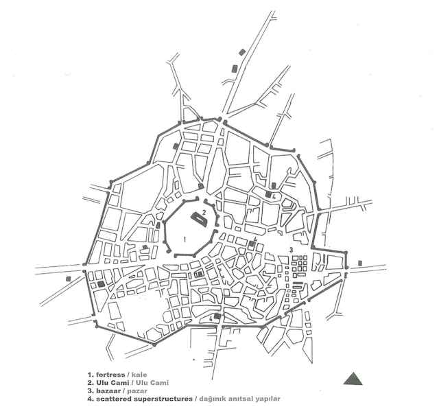Konya şehir planı, Gönül Tankut, Selçuklu Kenti kitabından alıntı