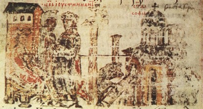 ayasofyanin inşaasi manasses kronigi