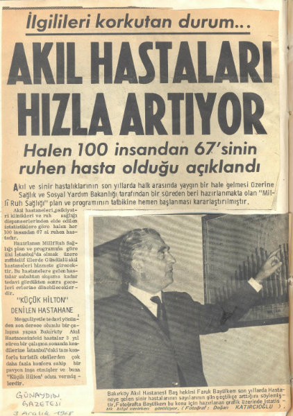 Gunaydin Gazetesi 3 Aralik 1968