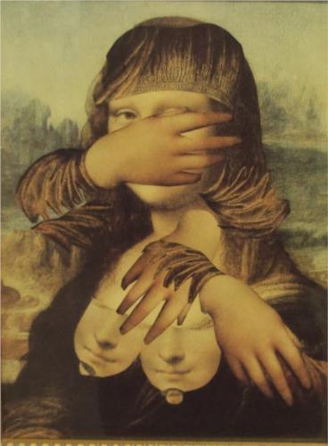 Mona Lisa'nın Hayatından serisinden bir kolaj Loose Woman 1988