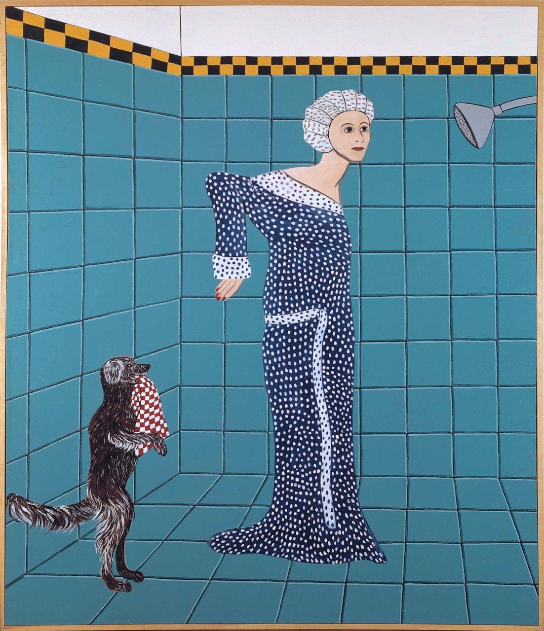 Duşa girmeye hazırlanan kadın 1975