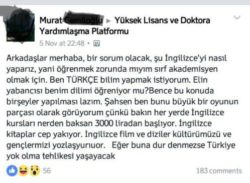 YVatan Sevgisi, İngilizce, Hayaller