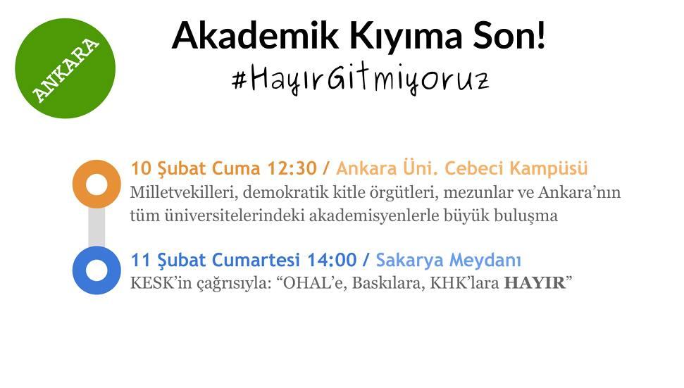 Hayır Gitmiyoruz Ankara ve Sakarya