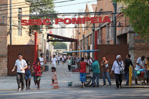 SESC Pompeia Kompleksi Giriş