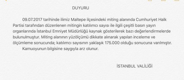 YMaltepe Mitingi'nde Kaç Kişi Vardı? İstanbul Valiliği'nden Flaş Açıklama…